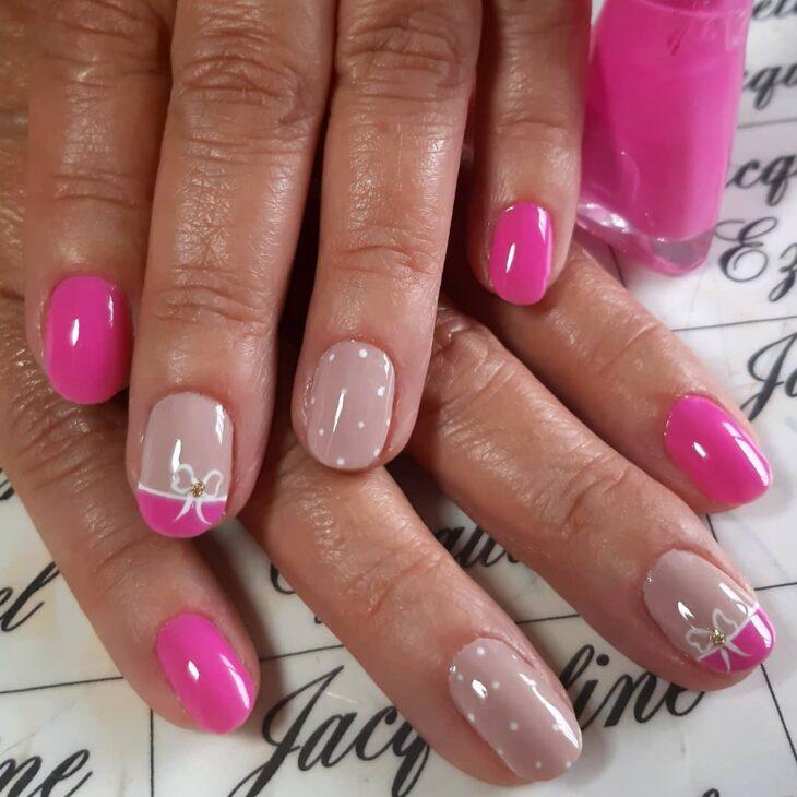 90 unhas decoradas rosa que unem delicadeza e estilo - 1
