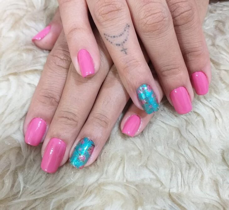90 unhas decoradas rosa que unem delicadeza e estilo - 13