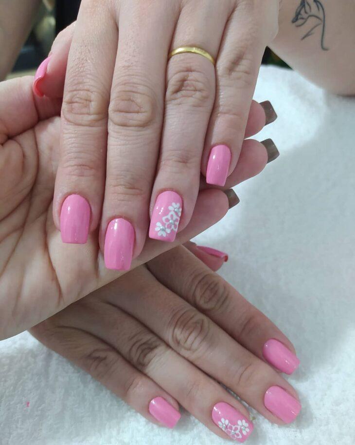 90 unhas decoradas rosa que unem delicadeza e estilo - 14