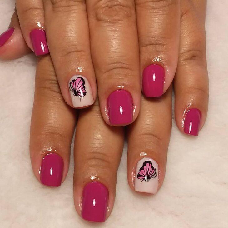 90 unhas decoradas rosa que unem delicadeza e estilo - 15