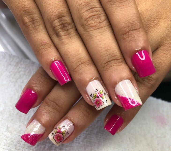 90 unhas decoradas rosa que unem delicadeza e estilo - 19