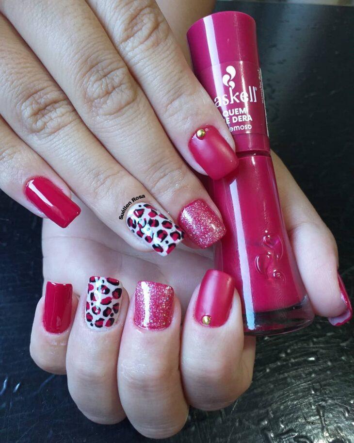 90 unhas decoradas rosa que unem delicadeza e estilo - 20