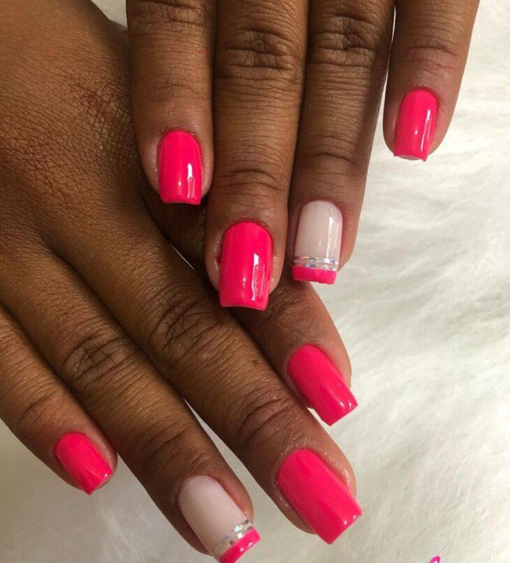 90 unhas decoradas rosa que unem delicadeza e estilo - 24
