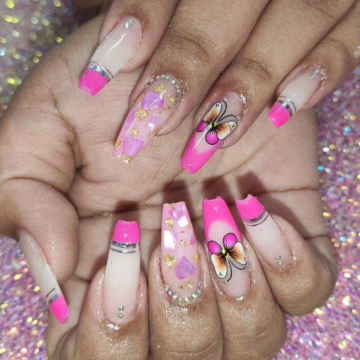 90 unhas decoradas rosa que unem delicadeza e estilo - 26