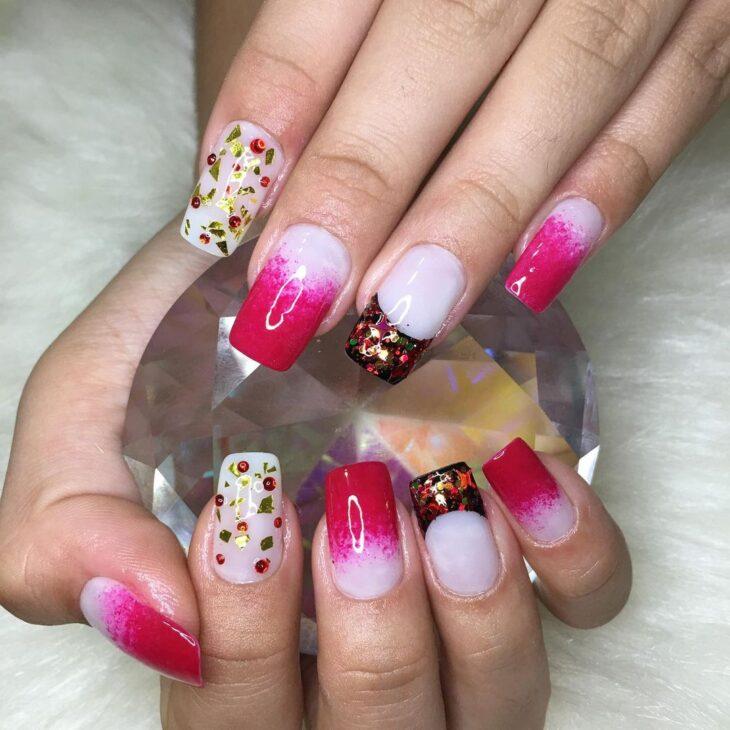 90 unhas decoradas rosa que unem delicadeza e estilo - 27