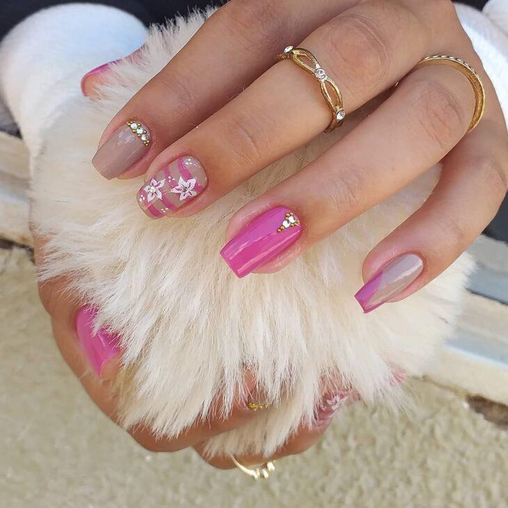 90 unhas decoradas rosa que unem delicadeza e estilo - 30