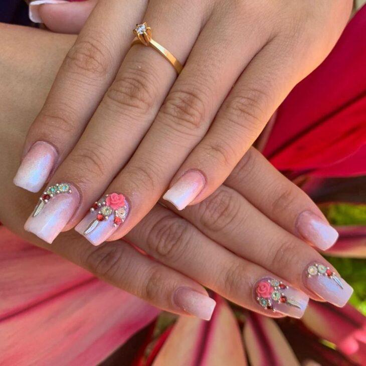 90 unhas decoradas rosa que unem delicadeza e estilo - 3