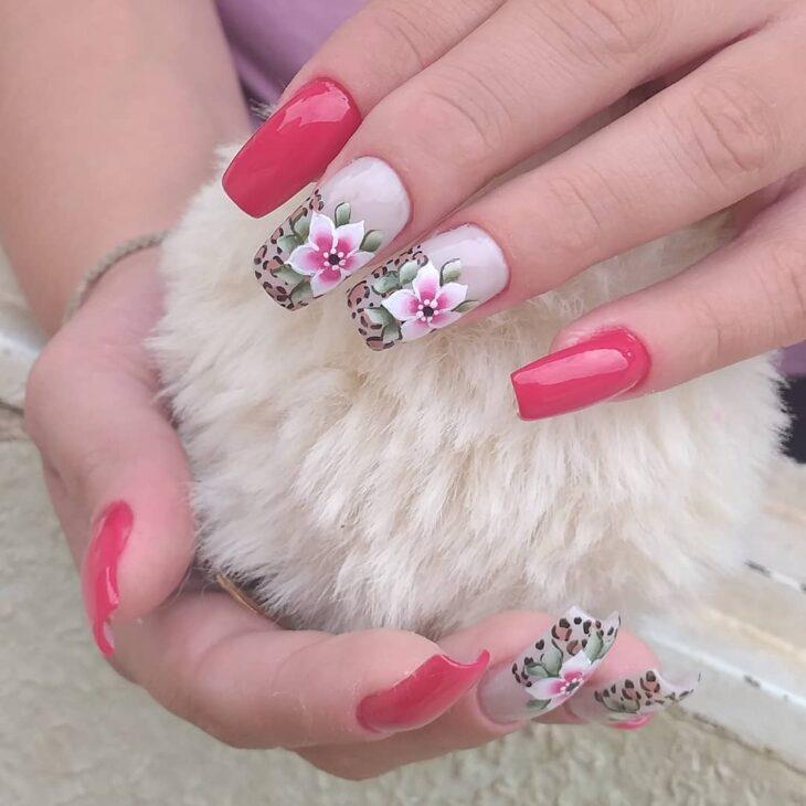 90 unhas decoradas rosa que unem delicadeza e estilo - 40