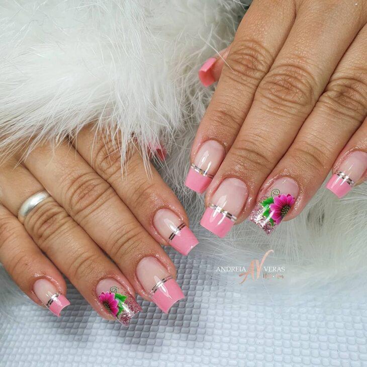 90 unhas decoradas rosa que unem delicadeza e estilo - 43
