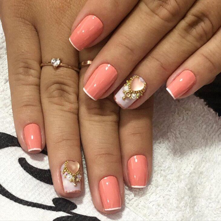90 unhas decoradas rosa que unem delicadeza e estilo - 49