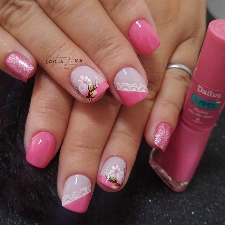 90 unhas decoradas rosa que unem delicadeza e estilo - 5