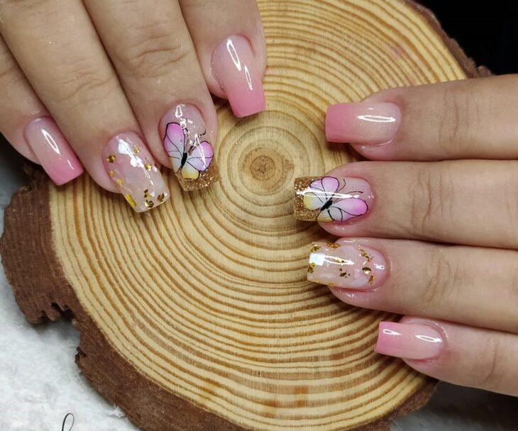 90 unhas decoradas rosa que unem delicadeza e estilo - 57