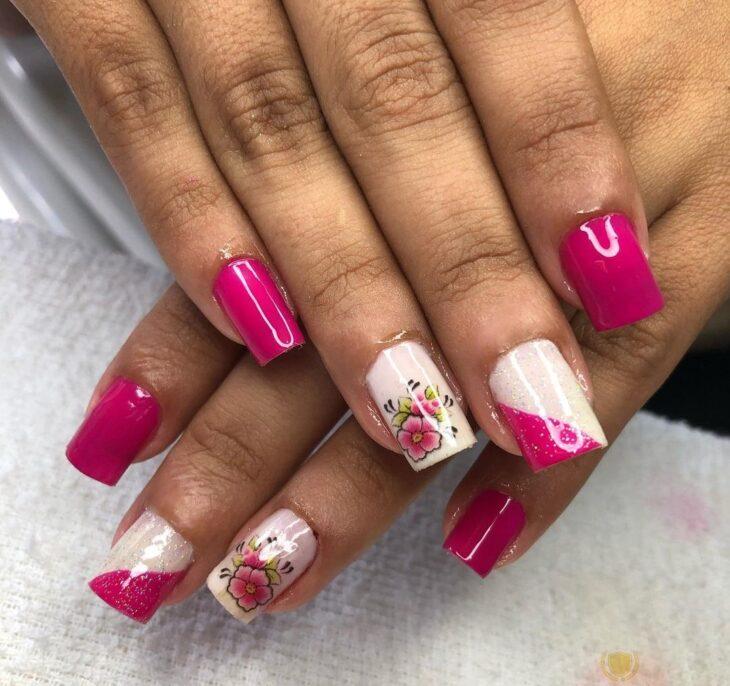 90 unhas decoradas rosa que unem delicadeza e estilo - 59