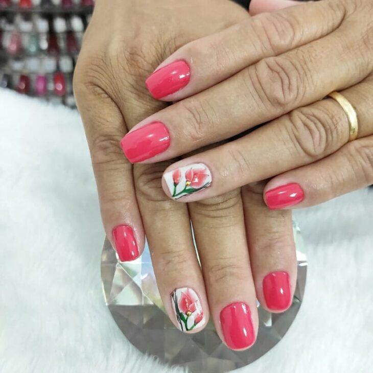 90 unhas decoradas rosa que unem delicadeza e estilo - 60