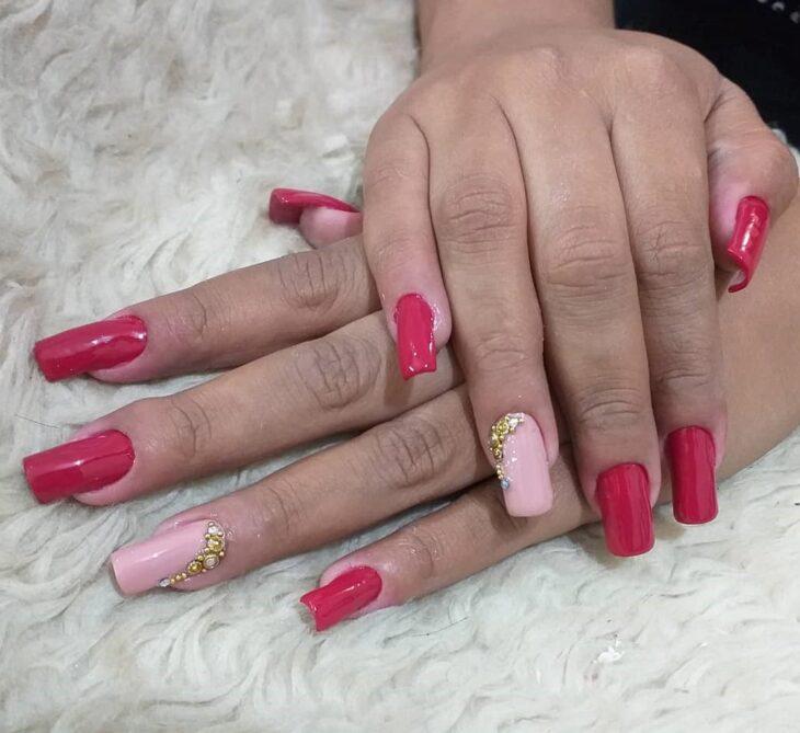 90 unhas decoradas rosa que unem delicadeza e estilo - 6