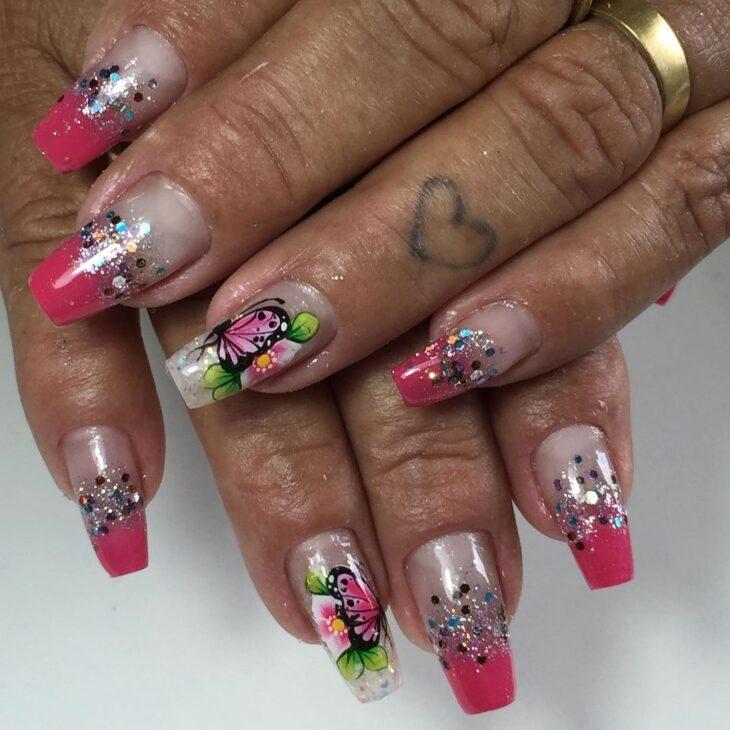 90 unhas decoradas rosa que unem delicadeza e estilo - 67