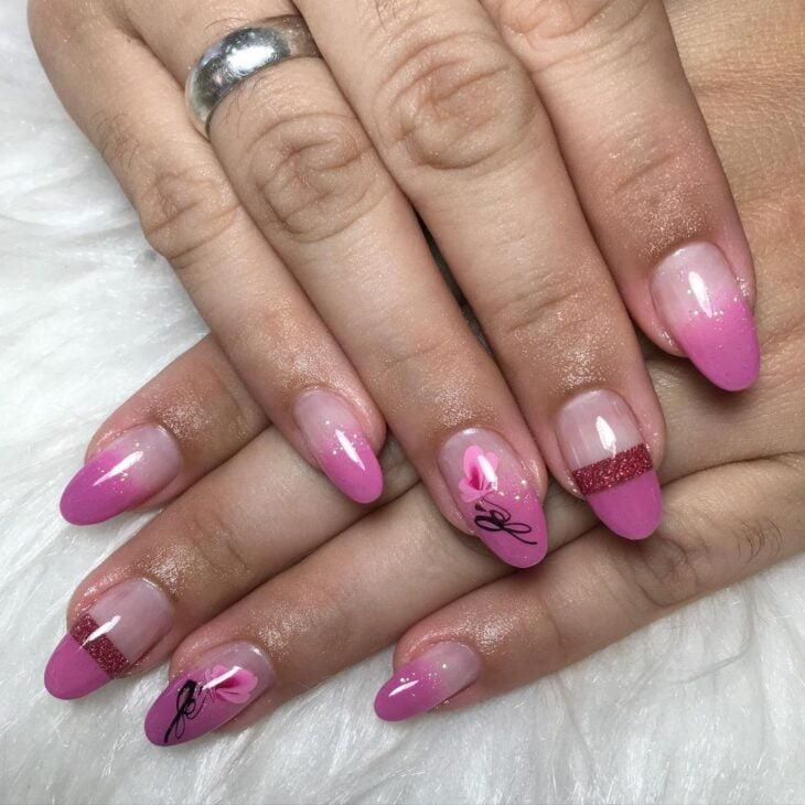 90 unhas decoradas rosa que unem delicadeza e estilo - 69
