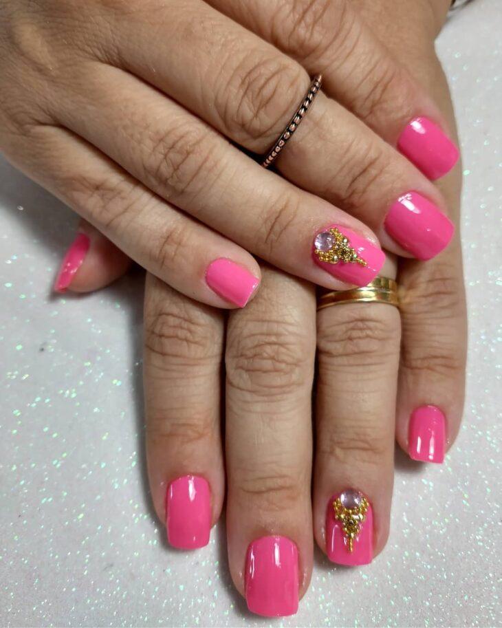 90 unhas decoradas rosa que unem delicadeza e estilo - 72