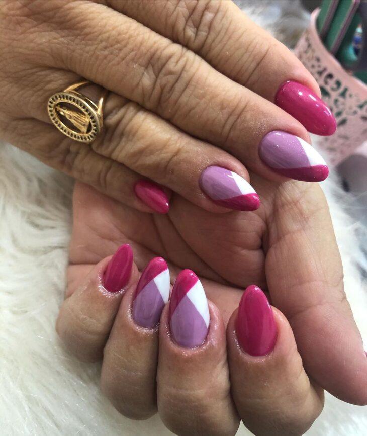 90 unhas decoradas rosa que unem delicadeza e estilo - 75