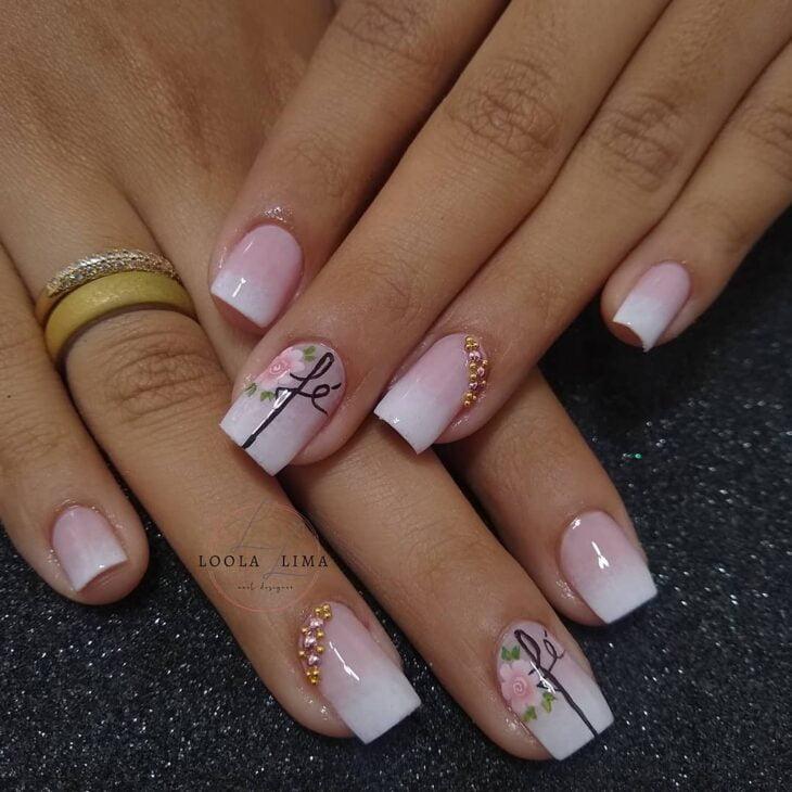 90 unhas decoradas rosa que unem delicadeza e estilo - 76