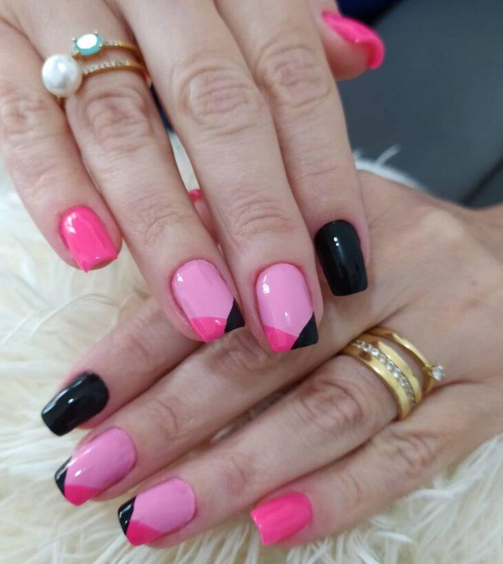 90 unhas decoradas rosa que unem delicadeza e estilo - 88