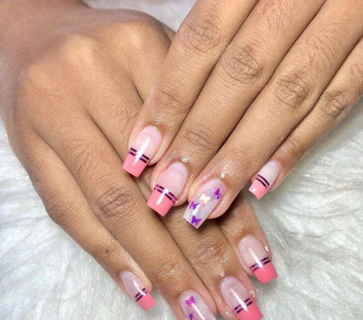 90 unhas decoradas rosa que unem delicadeza e estilo - 91