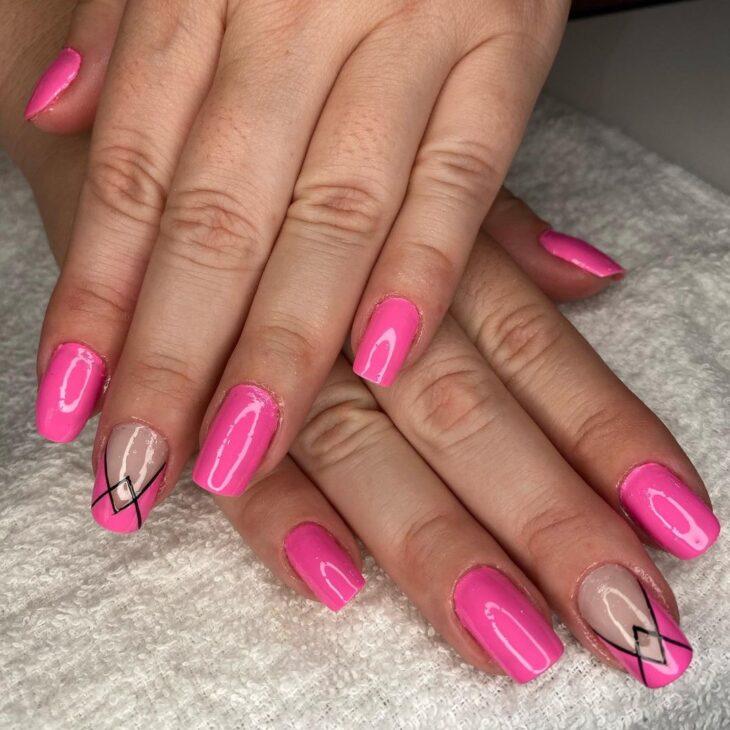 90 unhas decoradas rosa que unem delicadeza e estilo - 9