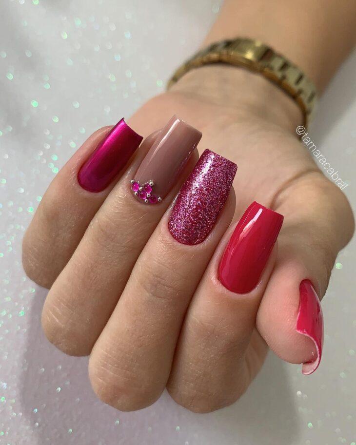 90 unhas decoradas rosa que unem delicadeza e estilo - 93