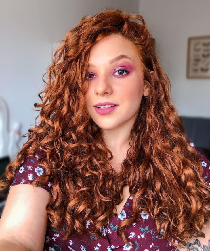 cabelo cacheado ruivo 14