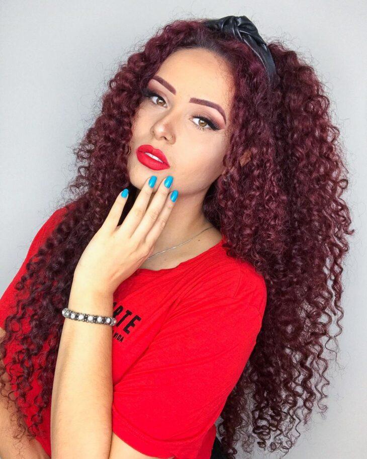 cabelo cacheado ruivo 8