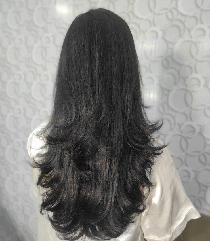 cabelo longo repicado 45