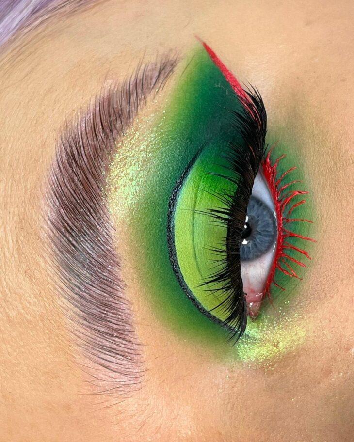 maquiagem verde 27