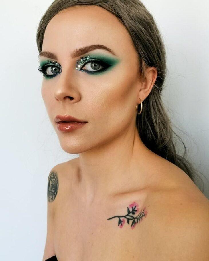 maquiagem verde 23