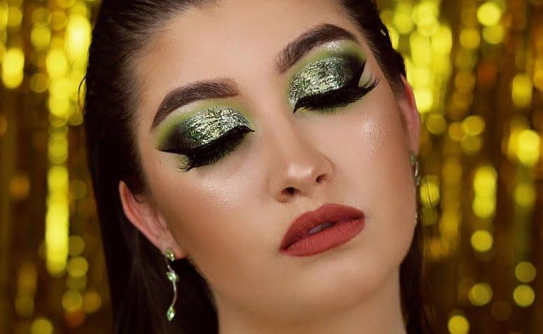 maquiagem verde 1