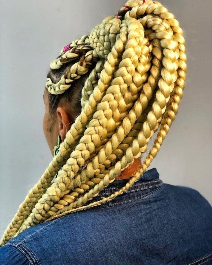 box braids loiro 43