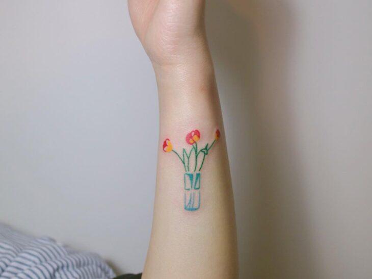 Tatuagem de flor pequena 40