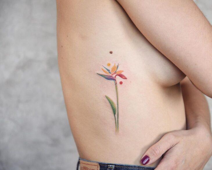Tatuagem de flor pequena 43