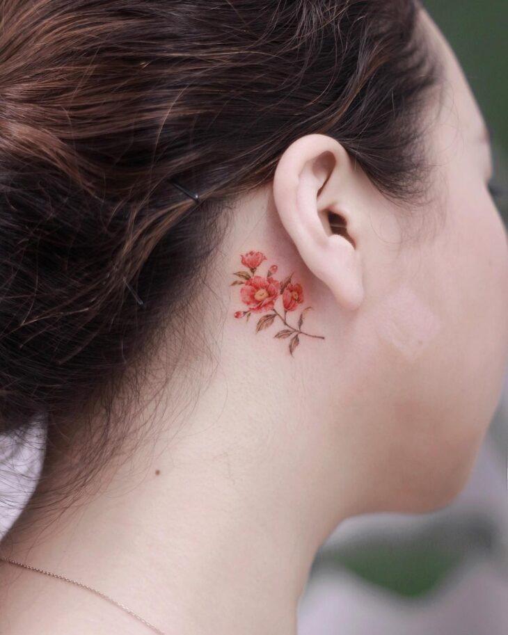 Tatuagem de flor pequena 58