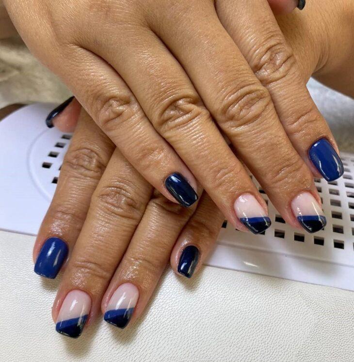 unhas decoradas azul 26