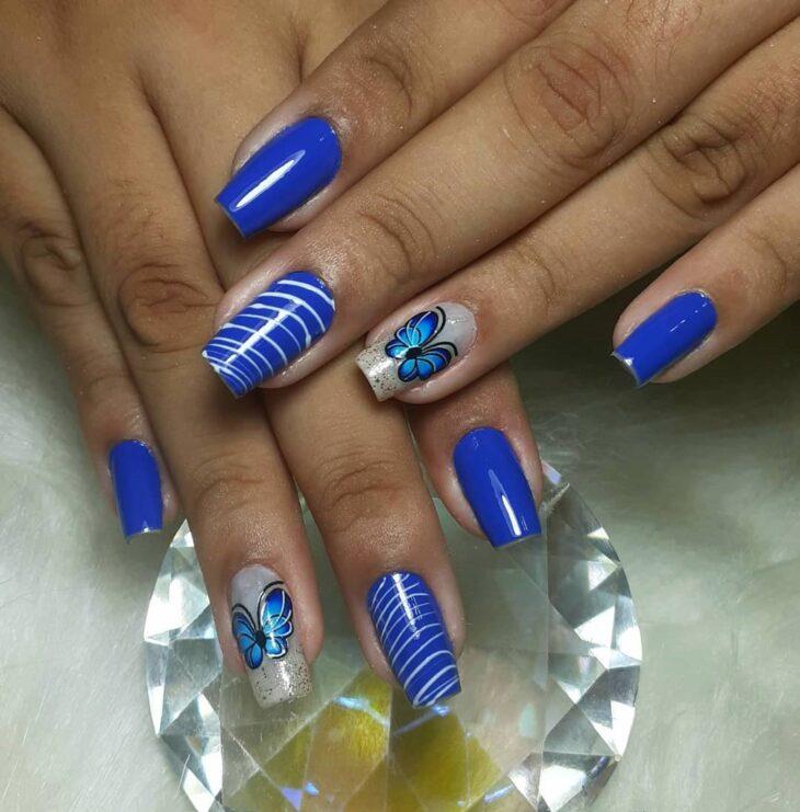 unhas decoradas azul 30