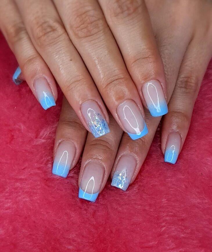unhas decoradas azul 34