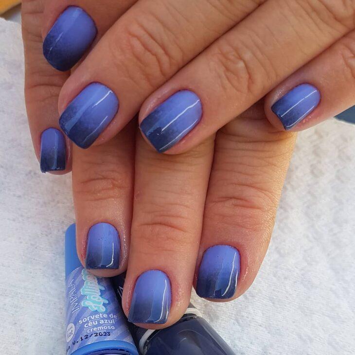 unhas decoradas azul 41