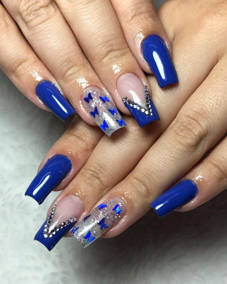unhas decoradas azul 52