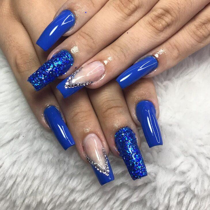 unhas decoradas azul 54