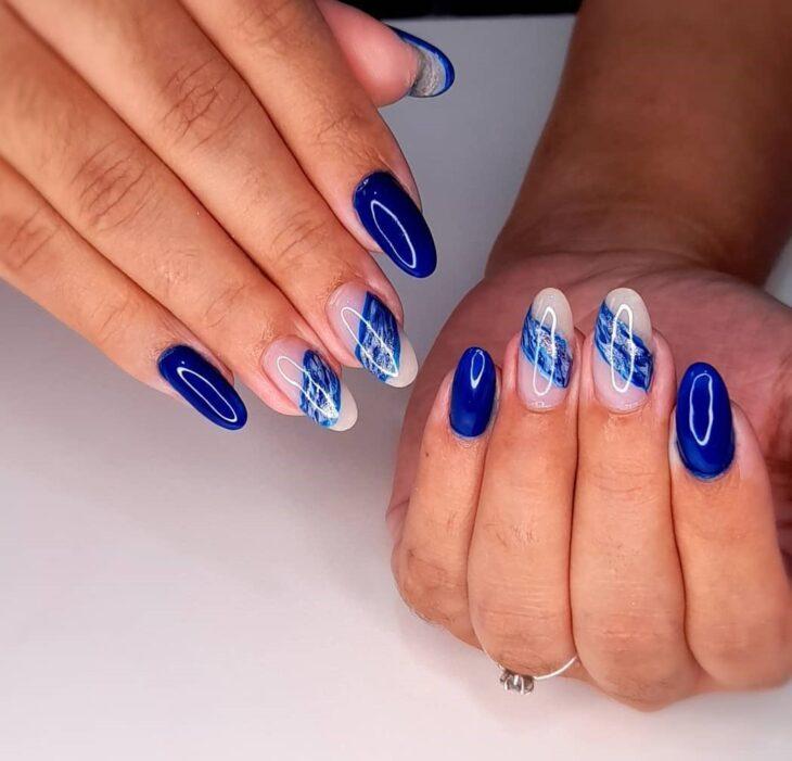 unhas decoradas azul 11