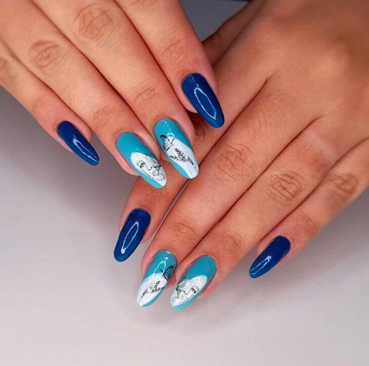 unhas decoradas azul 12
