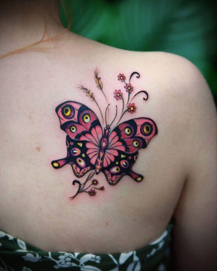 tatuagem de borboleta 160