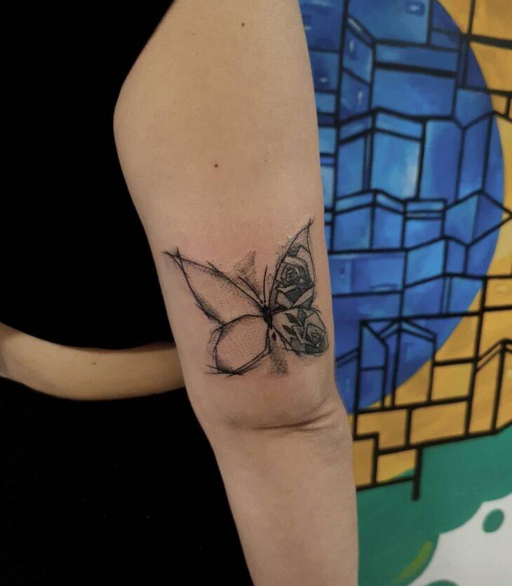 tatuagem de borboleta 176