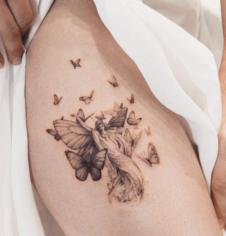 tatuagem de borboleta 185