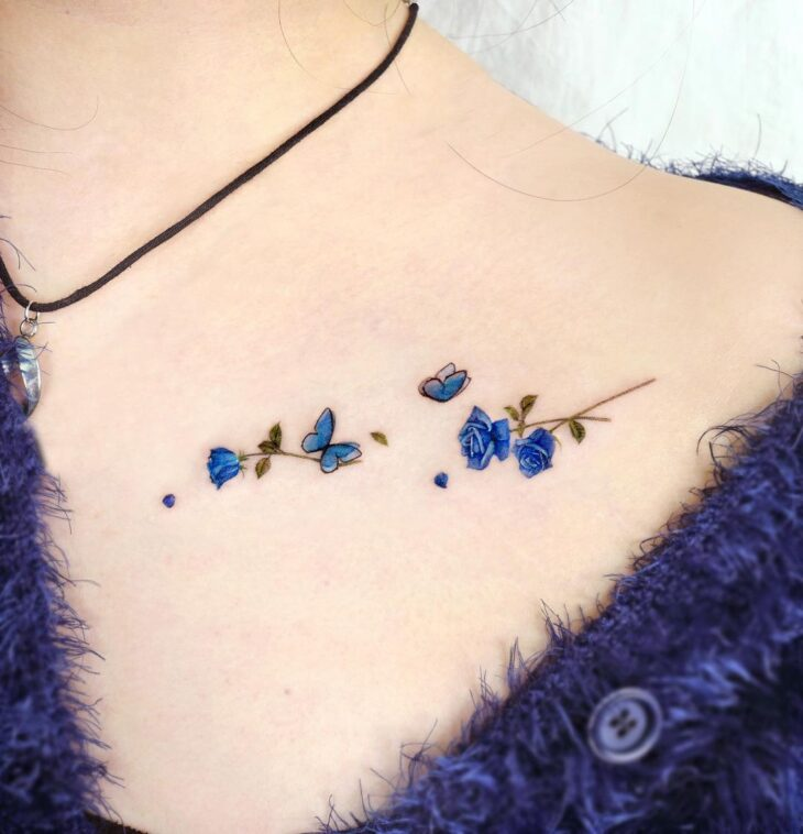 tatuagem de borboleta 70